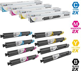 LD Compatible Toner Cartridge Replacement for Ricoh Aficio SP C830 C831DN (2 Black, 2 Cyan, 2 Magenta, 2 Yellow, 8-Pack)