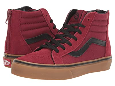 Vans Kids Sk8-Hi Zip (Little Kid/Big Kid) ((Gumsole) Biking Red/Gum) Boys Shoes