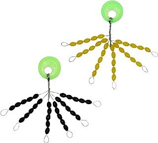 SAMSFX Carp Fishing Bobber Stoppers Rubber Float Stops Sinker Oval Yellow Black