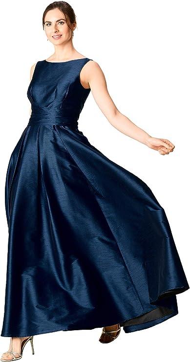 1960s Cocktail, Party, Prom, Evening Dresses eShakti FX Jasmine Dress - Customizable Neckline Sleeve & Length  AT vintagedancer.com