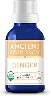 Ginger Organic Essential Oil from Ancient Apothecary, 15 mL - 100% Pure and Therapeutic Grade