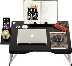Cooper Mega Table [XXL Extra Large - Premium Build] Folding Bed Desk, Lap Desk & Laptop Table | Drawer, Book Stand, Lots o...
