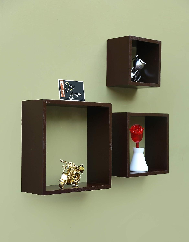 Onlineshoppee Wall Shelf Set of 全品最安値に挑戦 並行輸入品 Brown 3