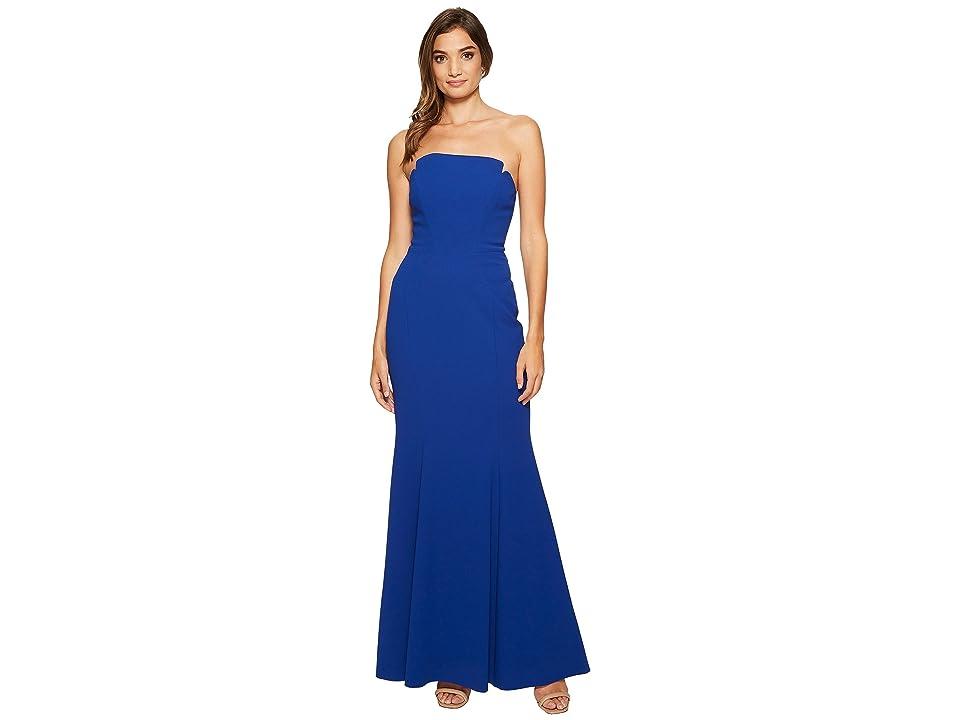 JILL JILL STUART Harlow Strapless Hourglass Gown (Cobalt) Women