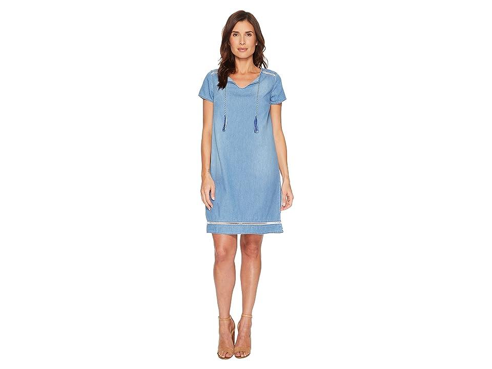 U.S. POLO ASSN. Short Sleeve Denim Tassel Dress (Atlas) Women