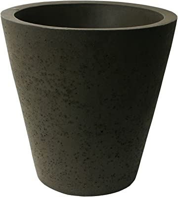 Algreen 89316 Self Watering Planter, 16-Inch, Brownstone