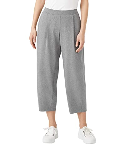Eileen Fisher Cropped Lantern Pants in Heathered Organic Cotton Stretch Jersey