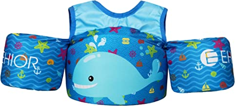 Ehior Toddler Swim Vest Water Aid Floats with Shoulder Harness Kids Pool Swim Life Jacket for 25-55 lbs Boys and Girls
