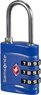 Global Travel Accessories - TSA Three Dial Light Combi Candado para equipaje 7 centimeters 1 Azul (Midnight Blue)