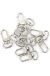Beads Unlimited 25 mm, 50 Unidades, peque/ños, Revestimiento de Plata Aros para Pendientes