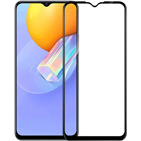 HUPSHY Tempered Glass Screen Protector Compatible for Vivo Y31 with Edge to Edge Coverage, Black