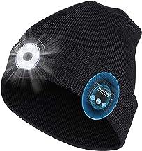 Upgraded Bluetooth Beanie Hoed,Muzikale Beanie met Licht,Hoofdtelefoon met ingebouwde Stereo Speakers & Mic,USB Oplaadbare...