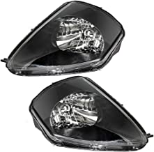 Headlights Headlamps Driver and Passenger Replacements for 00-05 Mitsubishi Eclipse MR496321 MR496322