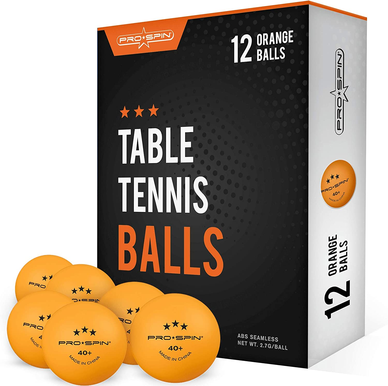 comp/étitions | Balles dentra/înement haute performance en ABS Durabilit/é ultime pour tables de tennis de table jeux lot de 24 PRO SPIN Balles de ping-pong Orange 3-Star 40+ Balles de tennis de table