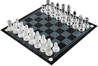 SHY Home Accessories Chess K9 Glass Chess Elegant Chess Game Medium Wrestling Packaging International Chess Set Glass Boar...