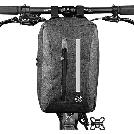 Ecool 自転車バッグ ハンドルバッグ フロントバッグ ショルダーバッグ サイクルバッグ 手提げ 大容量 ロードバイク …