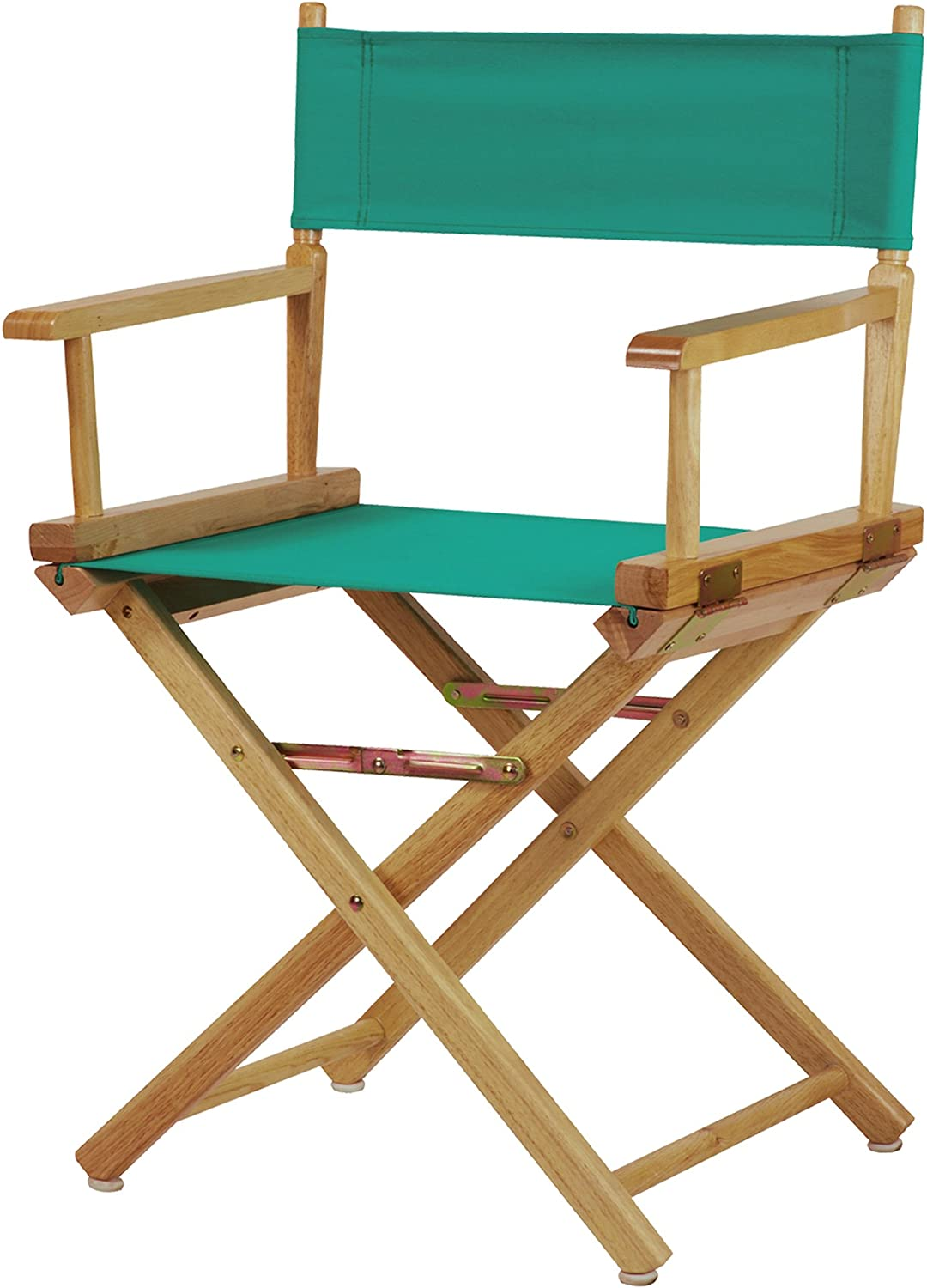 Casual Home 18-Inch Director Chair Natural Frame, Teal Canvas