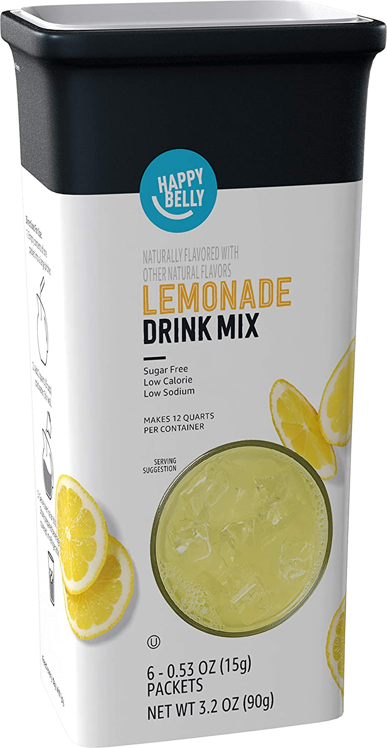 Amazon Brand - Milwaukee Mall Happy Belly Drink Indianapolis Mall Lemonade Mix packe 6 Singles