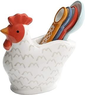 ceramic chicken measuring spoon holder