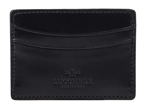 Lucchese Flat Leather Credit Card Case At