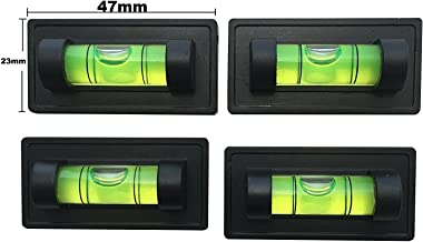 Nivel de Burbuja en Forma de T Dispositivo de nivelaci/ón Triangular Universal para Camping Lumpur Autocaravana Caravana Color al Azar Mini Nivel de Dos v/ías