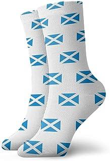 Luxury Calcetines de Deporte Scotland Flag Pattern Unisex Socks, All-Season Casual Comfortable Soft Ankle Socks Crew Socks