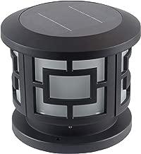 Kendal Large Outdoor Solar Lamp Post Light Powered LED Pillar Lantern,Black Finish SL-9001