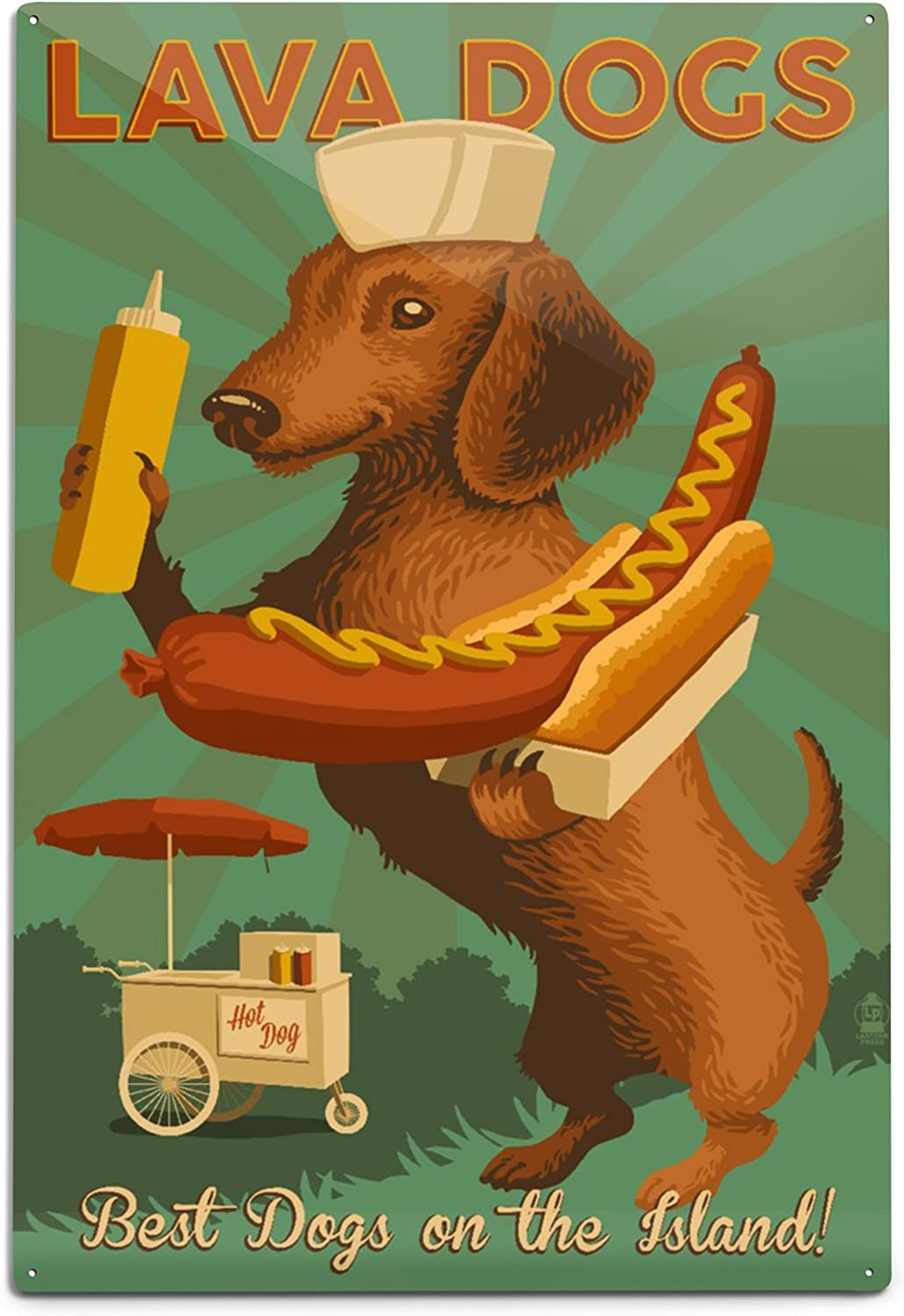 Lantern Press Outlet SALE Hawaii Lava Hot Dogs Da on Be super welcome Best The Island