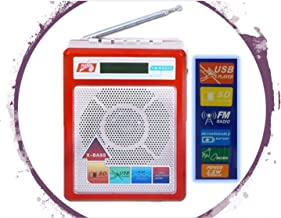 Selling Uniqness UNIq Sonilex Portable FM Radio with LED Display USB Pen Drive/SD Player and Music Output (Red)