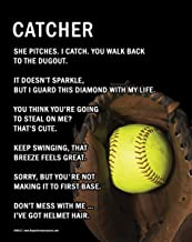 """Posters and Prints by Magnetic Impressions Unframed Softball Catcher 8"""" x 10"""" Sport Poster Print"""