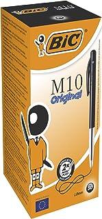 BIC Balpen M10 clic, 0,4 mm, doos à 50 stuks, zwart