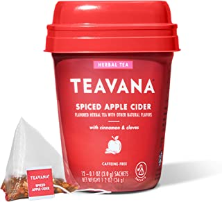 Sponsored Ad - Teavana Spiced Apple Cider, Herbal Tea With Cinnamon & Cloves, Caffeine Free (4 Pack, 48 Sachets Total)