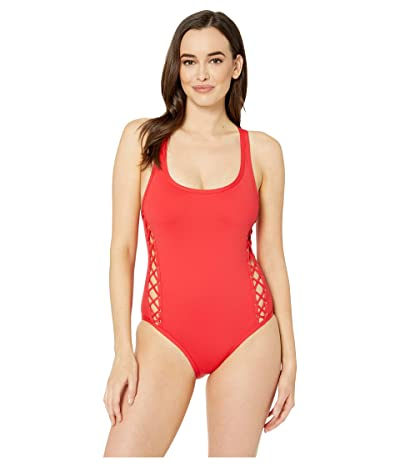 La Blanca Tied and True Over the Shoulder One-Piece (Flame) Women