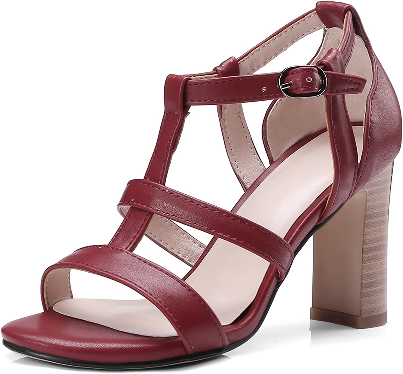 DoraTasia Women's Summer Sexy Suede Heeled Block shoes Open Toe Zipper Sandals