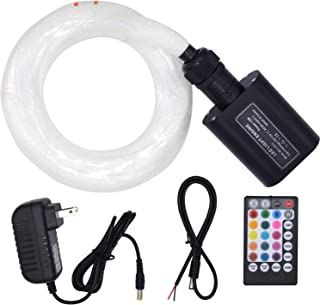 Fiber Optic Lights Music Mode LED Optical Fiber Star Ceiling Starlight Kit Interior Car Roof Lights 420 Strands 0.03in 0.06in 9.8ft Long for Car or Room