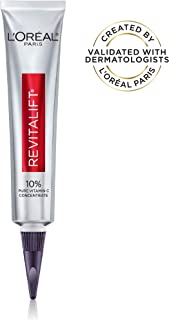 Vitamin C Serum by L'Oreal Paris, Revitalift Derm Intensives Pure Vitamin C Serum for Radiant and Brighter Skin, Even Skin Tone and Visibly Reduced Wrinkles, Paraben Free, Non Comedogenic