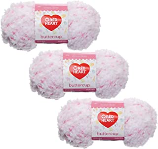 Red Heart Buttercup 50g Yarn, 3-Pack, White Coral