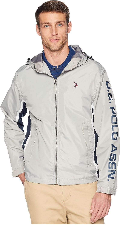 U.S. Polo Assn. Men's Tri Color Windbreaker Jacket