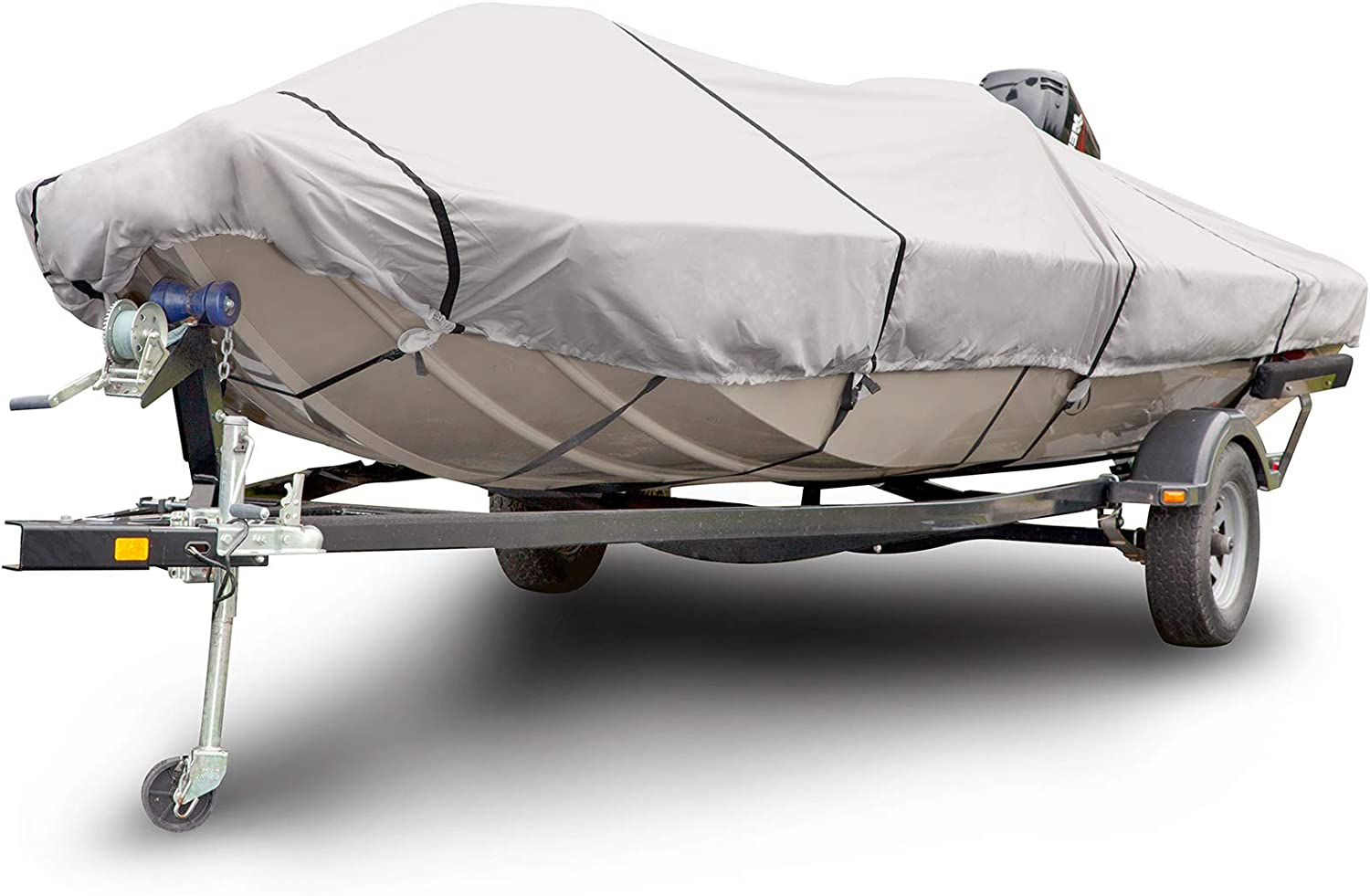 Budge 1200 Denier Boat Cover fits Center Console Flat Front/Skif