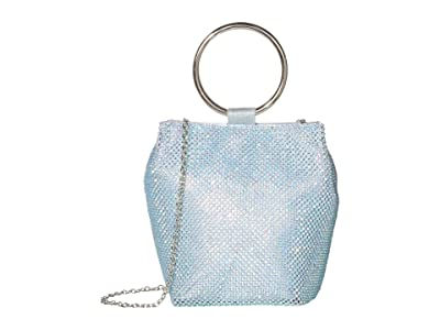 Jessica McClintock Gwen Clutch (Iridescent Aqua) Clutch Handbags