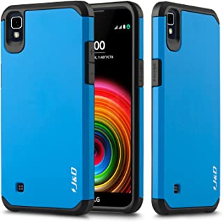 LG X Power Case, J&D [ArmorBox] [Dual Layer] Hybrid Shock Proof Protective Rugged Case for LG X Power - [Not for LG X Charge/LG X Power 2] - Blue