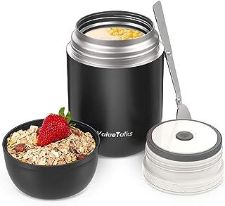 comprar comparacion ValueTalks Termo para Alimentos 450ml Tarro de Comida Acero Inoxidable Aislado al Vacío Frasco con una Cuchara Plegable pa...