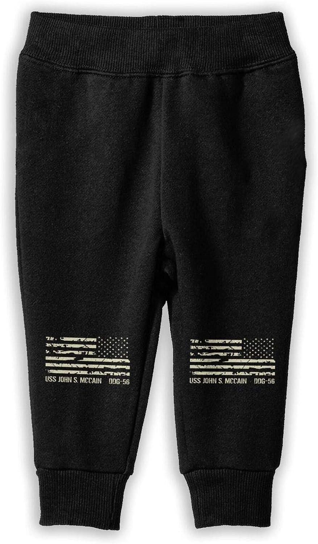 USS John S McCain Girls Childrenâ€s Cotton Sports Pants