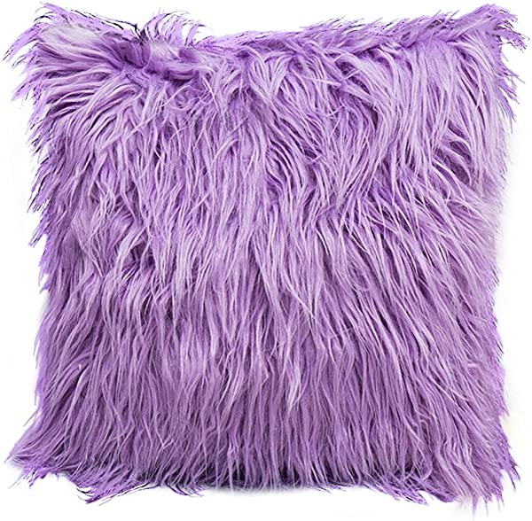 MileMelo Pillow Cover Faux Fur Plushy Furry Throw Pillow Case Decorative Ultra Soft And Comfort 18 X 18 Inch