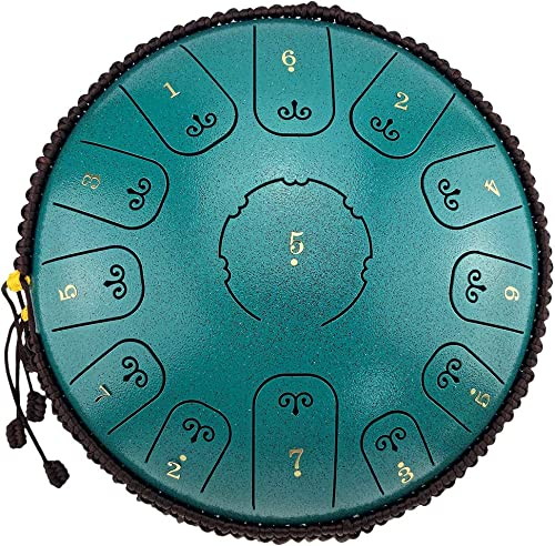 Percussion Instrument Steel Tongue Drum 13 Notes 12 Inches, Can Relieve Emotions, Complete Equipment, Camping, Etc. C...