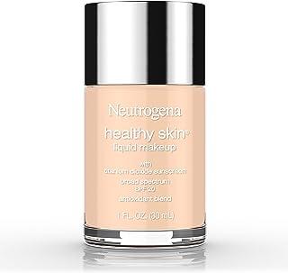 Neutrogena Healthy Skin Liquid Makeup Foundation, Broad Spectrum SPF 20 Sunscreen, Lightweight & Flawless Coverage Foundation with Antioxidant Vitamin E & Feverfew, 40 Nude, 1 fl. oz