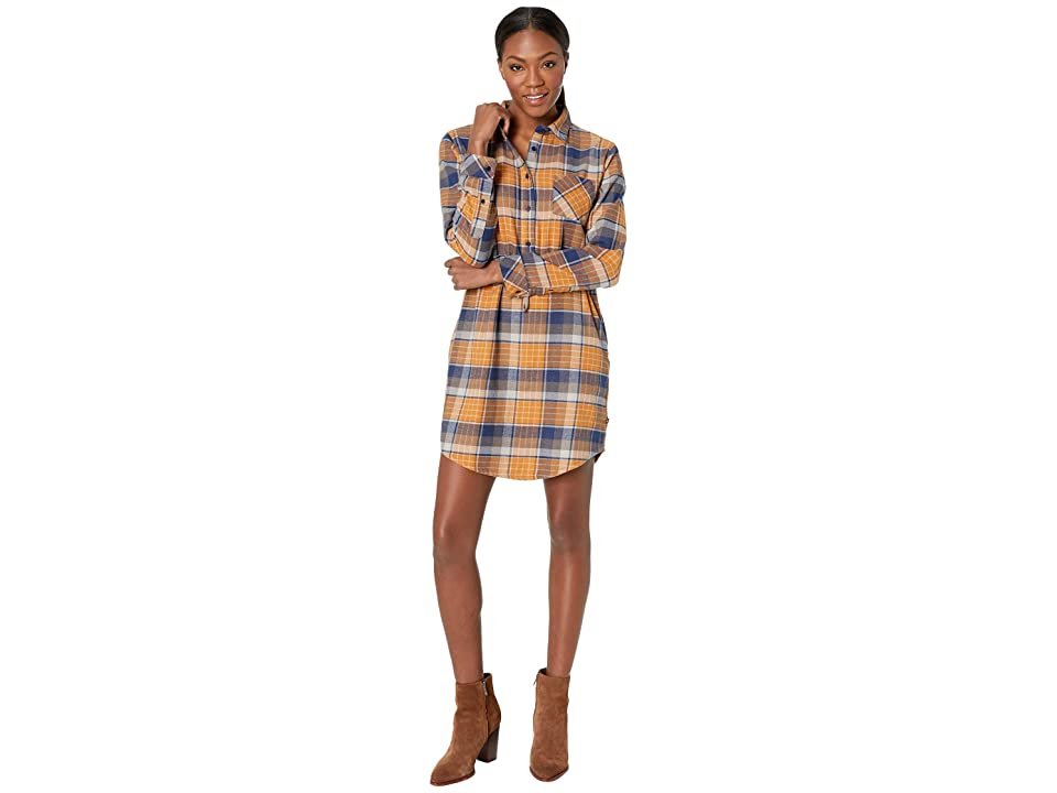 United By Blue Moraine Flannel Dress (Umber) Women
