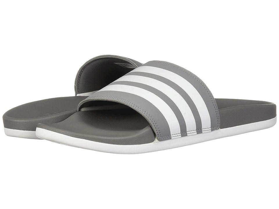 adidas Adilette Comfort (Grey 3/White/Grey 3) Men
