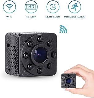 MYXMY Cámara espía inalámbrica portátil ultra pequeña cámara oculta WiFi cámara Mini Nanny HD 1080P detección de movimiento el mejor escritorio indetectable Cámaras de espionaje en interiores par