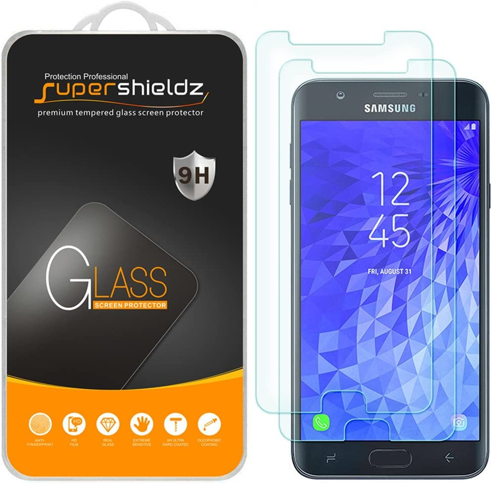 (2 Pack) Supershieldz Designed for Samsung Galaxy J7 V J7V (2nd Gen) and Galaxy J7 (2nd Generation) (Verizon) Tempered Glass Screen Protector, Anti Scratch, Bubble Free